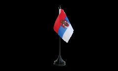 Drapeau de table Royaume de Serbie 1882-1918