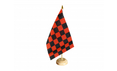 Drapeau de table Damier Rouge-Noir