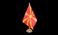 Drapeau de table Macédoine du Nord