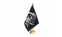 Drapeau de table Pirate avec sabre sanglant
