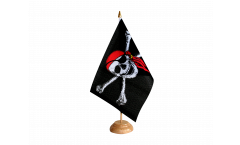 Drapeau de table Pirate avec foulard