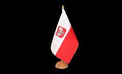 Drapeau de table Pologne avec aigle