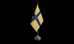 Drapeau de table Suède Province historique Ostrogothie