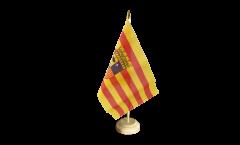Drapeau de table Espagne Aragon