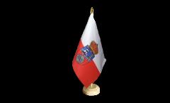Drapeau de table Espagne Cantabrie