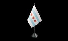 Drapeau de table USA Etats-Unis City of Chicago