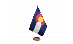 Drapeau de table USA US Colorado
