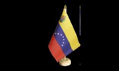 Drapeau de table Venezuela 7 Etoiles avec blason 1930-2006