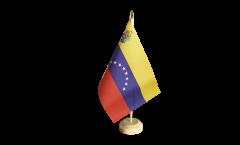 Drapeau de table Venezuela 8 Etoiles avec Blason