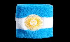 Schweißband Argentine avec soleil doré - 7 x 8 cm