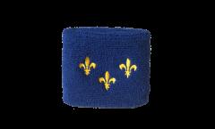 Schweißband France Île-de-France Fleur-de-Lys - 7 x 8 cm