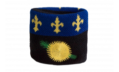 Schweißband France Guadeloupe - 7 x 8 cm