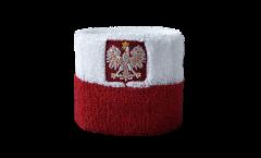 Schweißband Pologne avec aigle - 7 x 8 cm