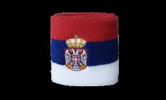 Schweißband Serbie avec blason - 7 x 8 cm