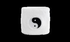 Schweißband Ying et Yang, blanc - 7 x 8 cm