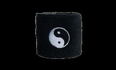 Schweißband Ying et Yang noir - 7 x 8 cm